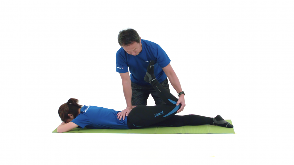Quadriceps muscle stretching
